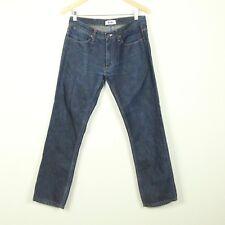 Acne Max Raw Jeans 32 x 34 Raw Indigo Low Waist Slim Leg Denim Actual 32 x 29