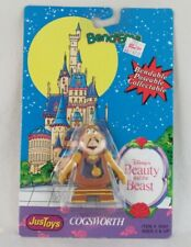 Beauty and the Beast Cogsworth Bend-ems Justoys, Disney Sealed on Card