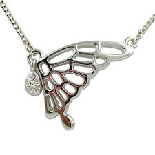 Fashion Jewelry - 18k White Gold Plated Butterfly Necklace (FN095)