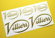 VILLIERS Script style Engine logo style gold sticker decal set
