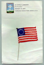 1967 World Scout Jamboree OFFICIAL SCOUT LETTER & UNITED STATES OF AMERICA FLAG