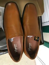Vepose men dress casual shoe,Nwt,yellow brown leather slip on,sz 13,square toe