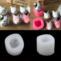 Bulldog Shape Aromatherapy Gypsum Mould Resin Casting Mold for DIY Ornament