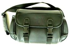Sony Camera Bag Black Case for Camera Camcorder with Strap Faux Leather Vtg