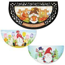 Garden Gnome WELCOME Slice Door Mat w/ Interchangeable Seasonal Plates
