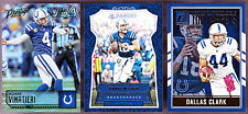 LOT OF 3 DIFFERENT 2016 INDIANAPOLIS COLTS ANDREW LUCK DALLAS CLARK VINATIERI
