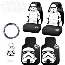 STAR WARS STROMTROOPER 6PC CAR SEAT COVERS MATS AND ACCESORIES SET FOR TOYOTA