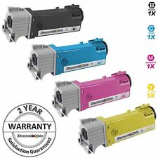 4 Black Cyan Magenta Yellow Printer Toner Cartridge for Dell Color 2130cn 2135CN
