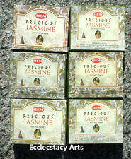 Hem Precious Jasmine Incense Cones, Bulk Lot 6 x 10 Cones, 60 Total {:-) NEW