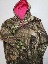 Ladies Mossy Oak Camo Hoodie With Hot Pink NWT Size L