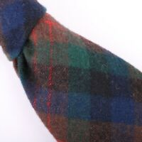 Pendleton Wool Necktie Red Green Brown Plaid Check Tie