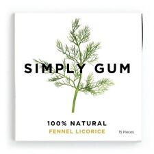 Simply Gum, Fennel Licorice Natural Chewing Gum - Non GMO, Vegan, 6 Packs *NEW*