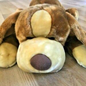 """Animal Alley Darby Plush Stuffed Dog Huge Jumbo 36"""" Floppy Body Pillow 2000 VTG"""