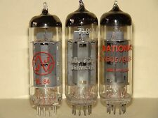 3 National IEC 6BQ5 EL84 Vacuum Tubes Results= 10,400  12,400  9,800