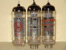 3 National IEC 6BQ5 EL84 Vacuum Tubes Results= 10,400  12,400  9,800