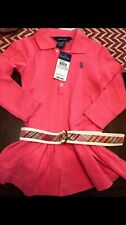 New Ralph Lauren Girls 2T Pink Belted Dress Spring Toddler Easter Preppy Plaid