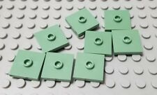 LEGO New Lot of 8 Sand Green 2x2 Center Stud Minecraft Tile Pieces