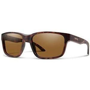 Smith Sunglasses for Man Basecamp Matte Tortoise/ChromaPop Polarized Brown