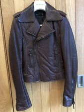 Balenciaga 2009 Mogano Brown Leather Biker Jacket - Size 34, BNWT