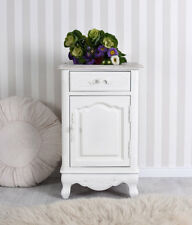 Table de Chevet Shabby Chic Placard Blanc Commode bois Nuit Commode cabinet neuf