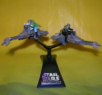 Star Wars Action Fleet Luke Skywalker & Leia Speeder Bike Endor w/ Display Stand