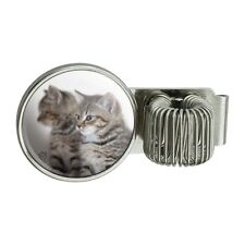 Domestic Shorthair Cats Mirror Image Pen Holder Clip for Planner Journal Book