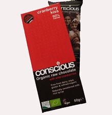 Conscious Cranberry Kiss Organic Raw Chocolate 60% Cacao