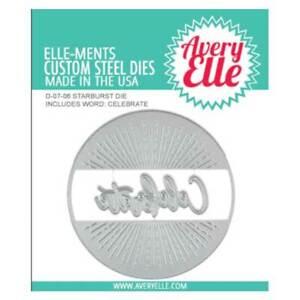 Avery Elle ~ STARBURST ~ Die Set Elle-ments Line Detailing Circle Celebrate Card