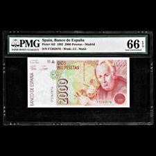 Spain 2000 Pesetas 1992 PMG Gem Uncirculated 66 EPQ