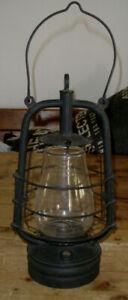 Vintage Veritas London Lamp Works Paraffin Oil Lamp