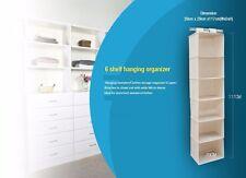 2018 New 6 Shelf Closet Organizer-  Heavy Duty