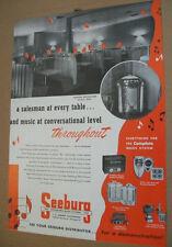 Seeburg Symphonola phonograph & wireless /amp 1948 Ad- Canton Recreation Ohio