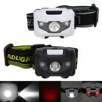 Mini 4 Modo 300Lm R3 2 LED Luz Cabeza Headlight Linterna Frontal Pesca Caza