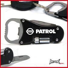NISSAN PATROL GU Lasered Logo Keyring / Pocket Knife / LED Torch / Bottle Opener