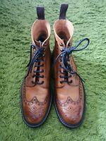 136- Boots Marron Cuir Grainé Cheaney 11/45 Excellent État