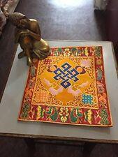 Tibetan Endless Knot silk brocade table cover/ altar cloth/ shrine placemat/ mat