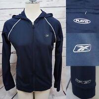 NWOT Reebok Women Lightweight Sweat Shirt Full Zip Play Dry Navy Blue Sz Medium
