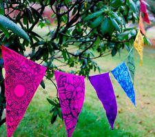 Lotus Mandala Rainbow Prayer Flag Bunting Banner Bali Boho Garden Wall Art Decor