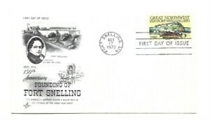 JH 1409 Fort Snelling, ArtCraft pencil address erased, FDC