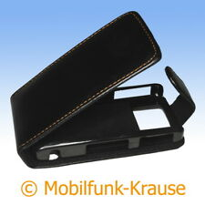 Flip Case Etui Handytasche Tasche Hülle f. BlackBerry Pearl 8120 (Schwarz)