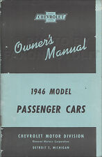 1946 Chevy Car Owners Manual Stylemaster Fleetmaster Fleetline Station Wagon