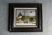 ORIGINAL H. HARGROVE FRAMED 8 X 10 OIL PAINTING