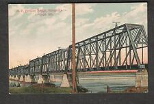 1912 post card N P railway bridge Kennewick Pasco WA to Coeur d'Alene ID