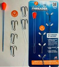 Hook, Line & Threader Kits - Make Live Lures! Choose from 7 Different Hook Sizes