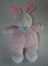 Eden Baby Pink Stripe Bunny Rabbit Lovey Rattle Toy Plush Seersucker