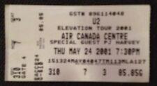 U2-Ticket Stub-Toronto-May 24, 2001-Elevation Tour-Air Canada Centre