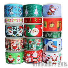 15Yards Mixed Lot Christmas Gifts Colorfud Printed Grosgrain Ribbons