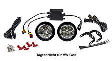 LED Tagfahrlicht 8 SMD rund Ø70-90mm E-Prüfzeichen R87 DRL E4 für VW Golf TFL2
