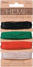 Hemp Cord Set, 4 Colors, Assorted Primary Colors, 20lb, 30' (9.1m) per Color