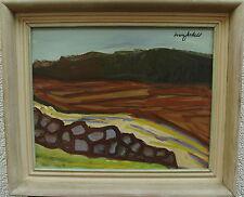Ivan Jordell 1901-1961, Landschaft mit Feldsteinmauer, um 1950